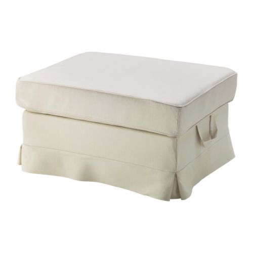 2 for the end of the bed. EKTORP Footstool IKEA The cover is easy to ...