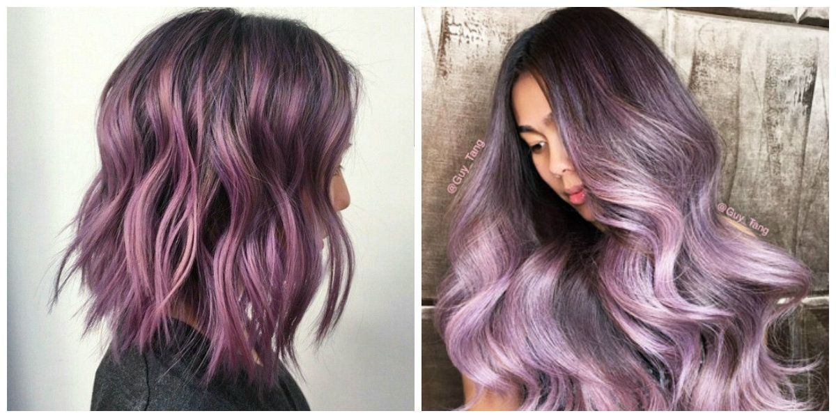 Purple Hair Highlights For Different Hair Colors In 2018 Beauty
