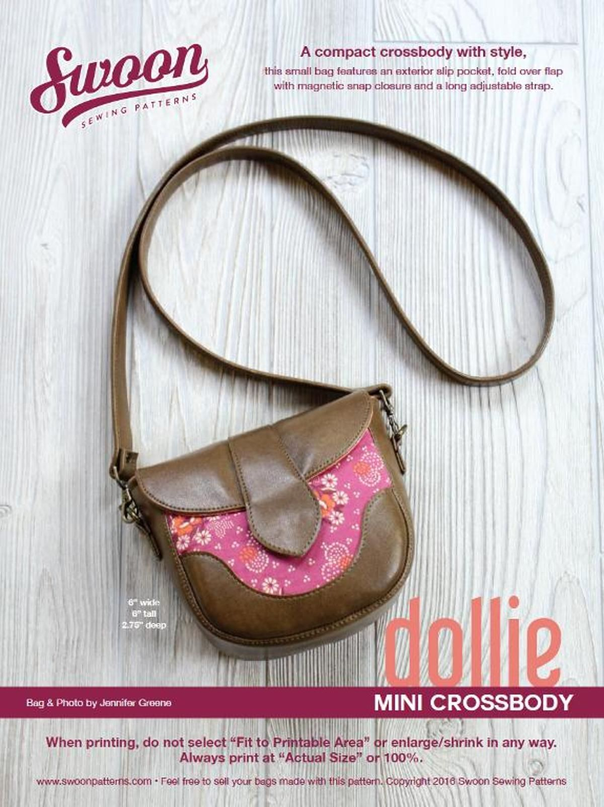 Swoon Dollie Mini Crossbody | Craftsy | DIY: Sewing | Pinterest ...