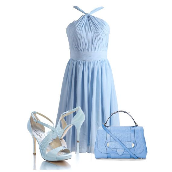 Wedding Party Dress Mint BlueHalter Chiffon by autoalive on Etsy