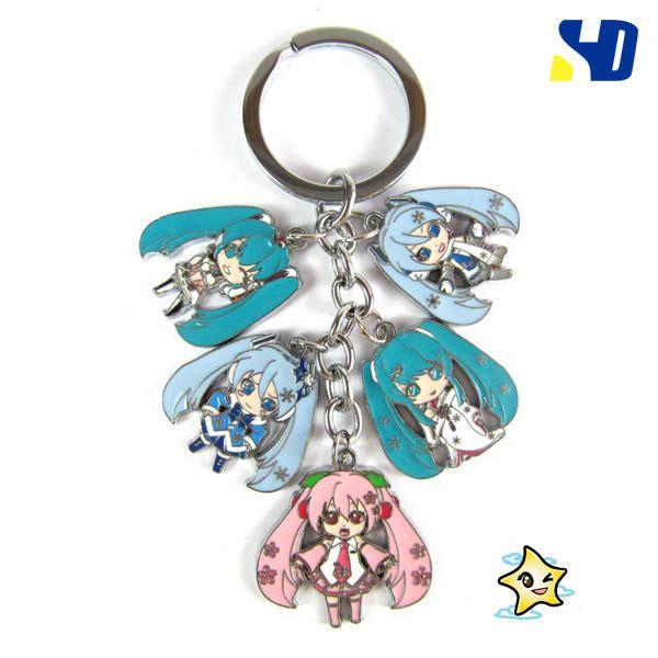 Click To Buy Hatsune Miku Vocaloid Figure Toys Keychain Pendant Mini Snow Hatsune Miku Model Key Ring Toys Affil Keychain Metal Keychain Sword Necklace