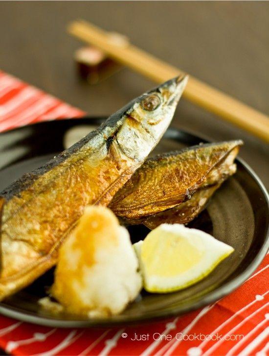 Sanma shioyaki salt grilled pacific saury recipe japanese dishes sanma shioyaki recipe easy forumfinder Images