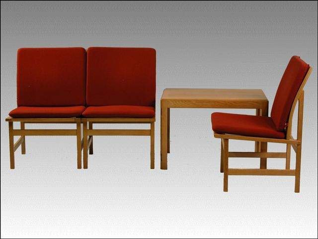 Model 3232 Lounge Chairs By Borge Mogensen For Fredericia 1960s Set Of 4 Chair Design Chair Lounge Chair