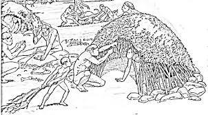 Resultado De Imagen De Dibujo Choza Prehistorica Para Colorear Animales Prehistoricos La Prehistoria Para Ninos Prehistoria