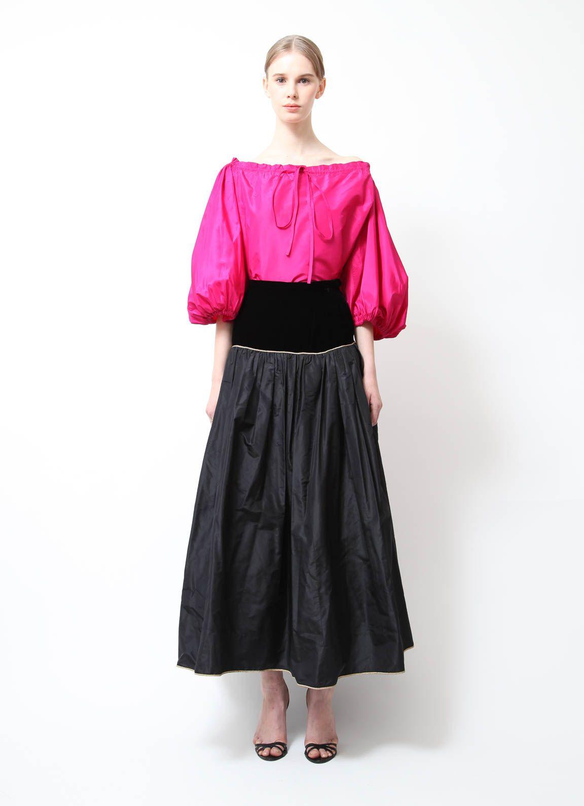 bc84a13c794 Saint Laurent | 1976 Iconic Peasant Ensemble | RESEE Taffeta Skirt, Rive  Gauche, Silk