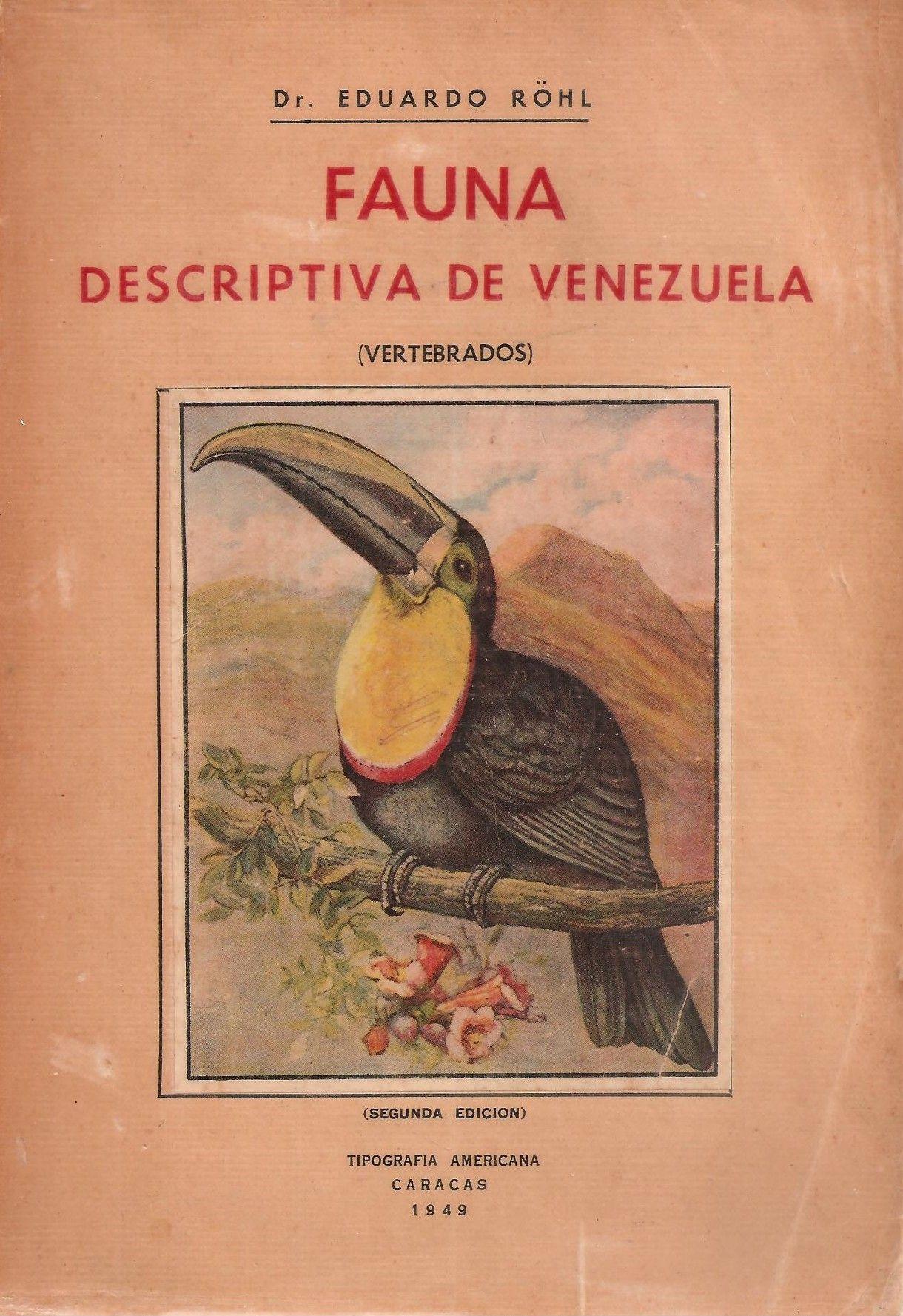 Image result for libro Eduardo Rohl Fauna descriptiva de Venezuela (1956).