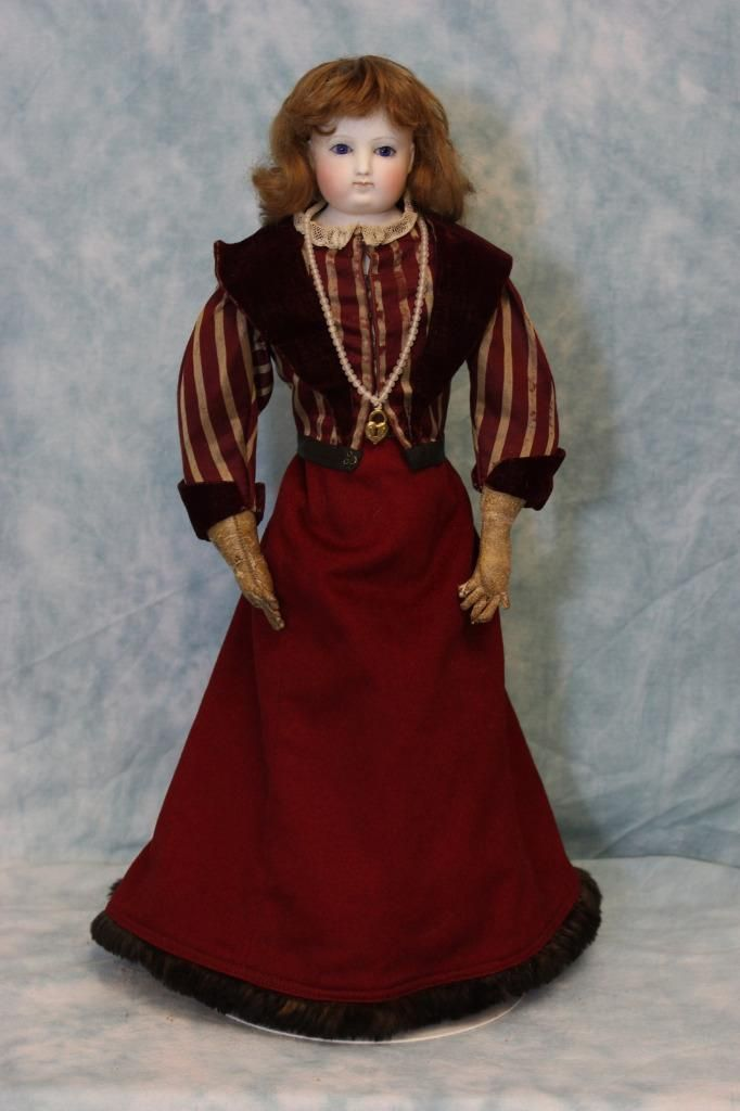 18 inch Antique Bisque French Fashion Doll 1870s by Eugene Barrois Paris France…