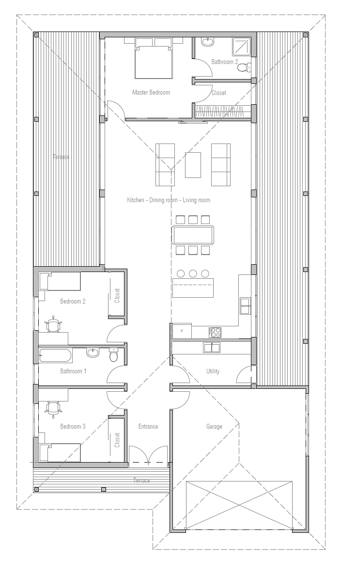 House Plan Ch269 Home Design Floor Plans Small House Floor Plans Dream House Plans