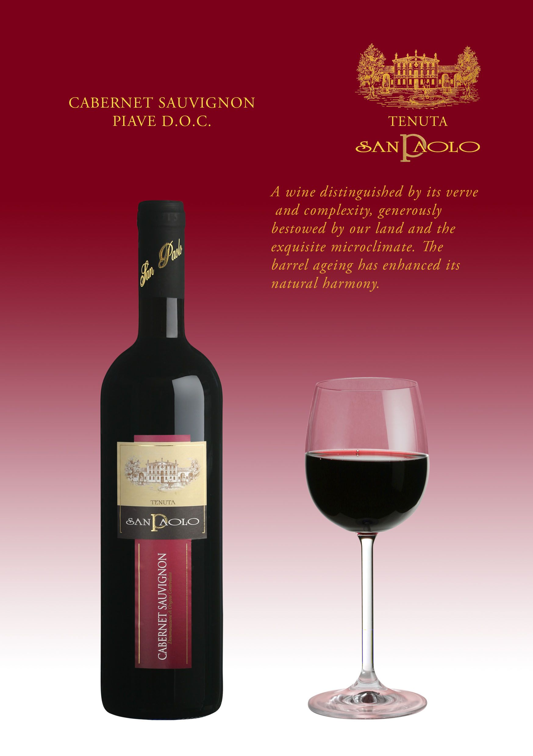Cabernet Sauvignon Piave Doc Red Wine Red Wine Full Bodied Wine Wine