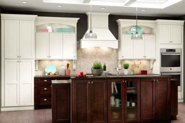 American Woodmark white shaker style cabinets for the kitchen in ...