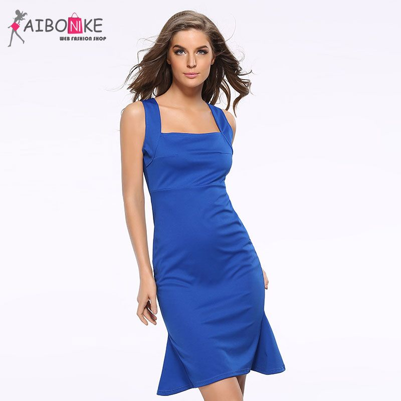 09823f663c Click to Buy    Women Sexy White Pencil Dress Vintage Bandage Bodycon  Solid.