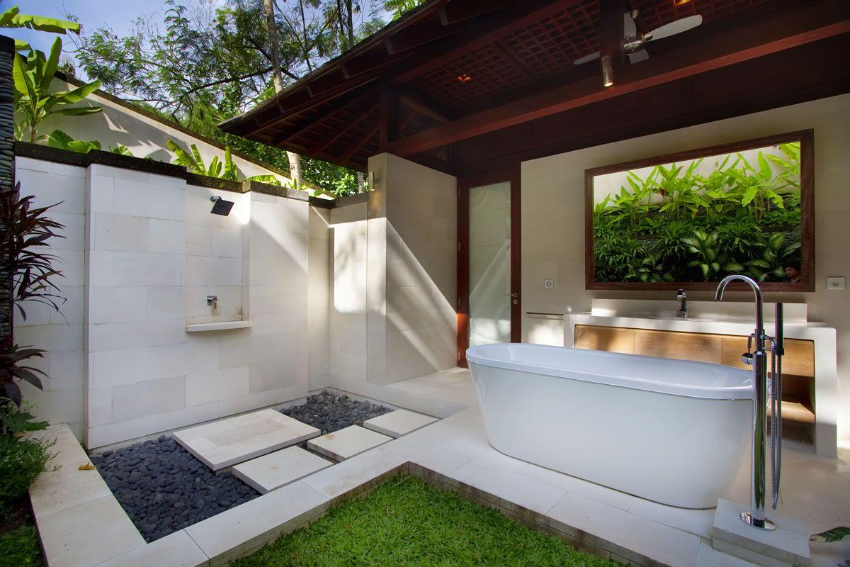 Garden View Bedroom En Suite Bathroom Luxuryhouses Outdoor Bathroom Design Tropical Bathroom Outdoor Bathrooms Bedroom plus bathroom design