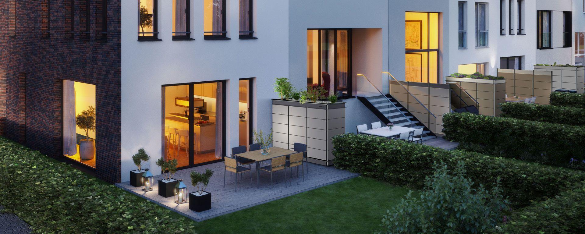 Sichtschutz Mit Integriertem Stauraum Als Terrassentrenner Fur