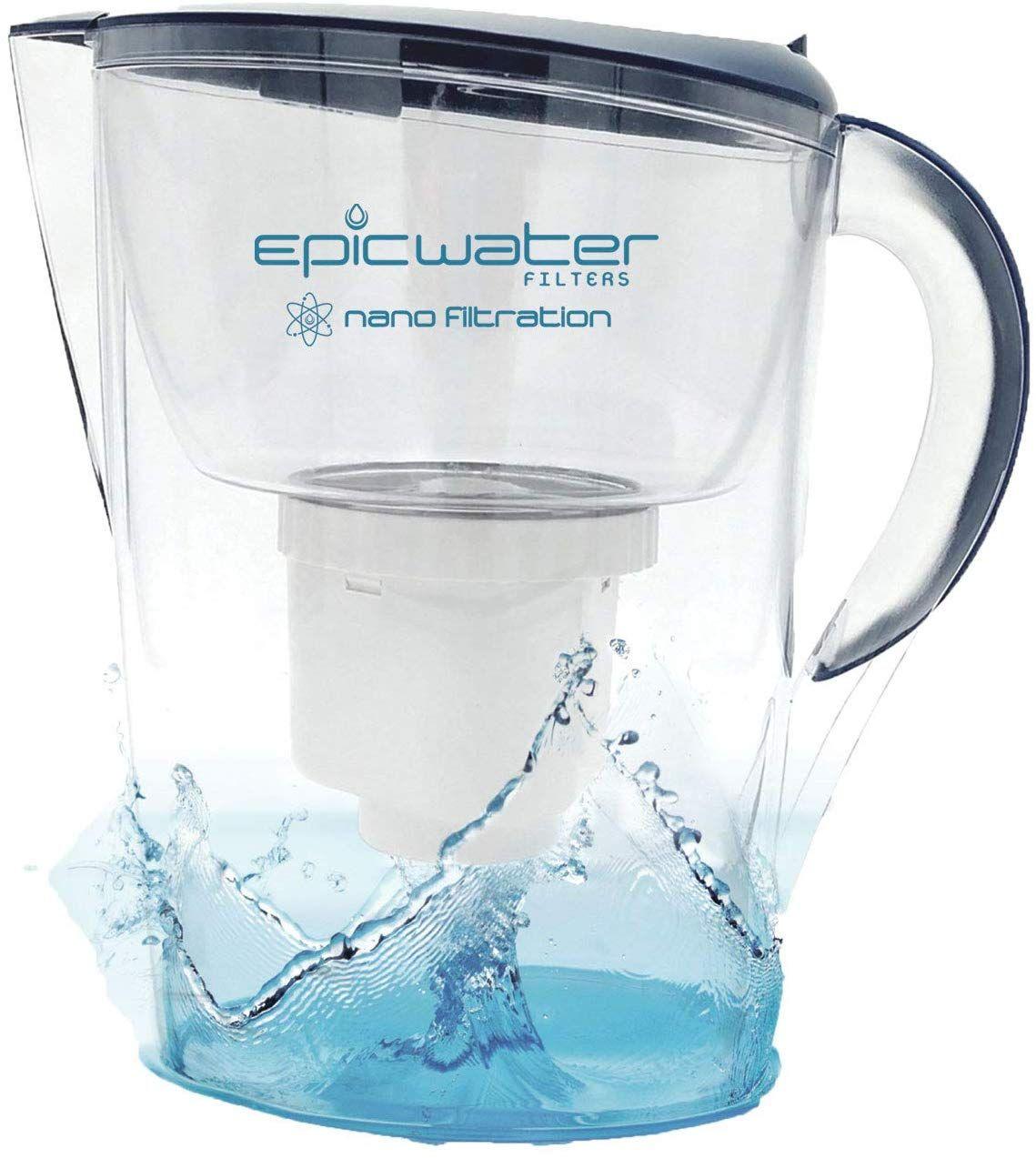 Epic Nano Water Filter Pitcher Navy 3.5L BPAFree