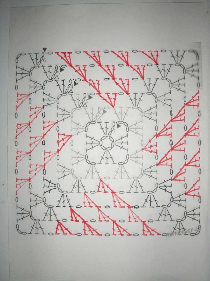 Baby blanket 1/2 | Cuadrados de abuelita | Pinterest | Cuadrados ...