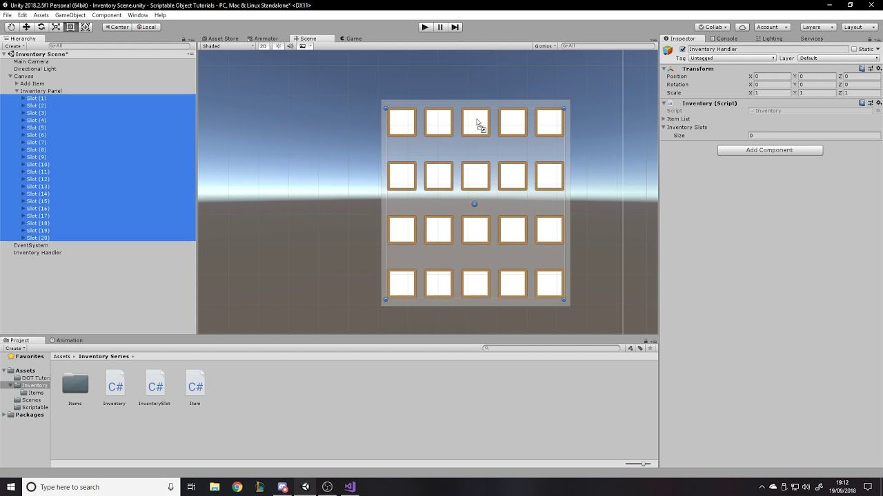 Item and Inventory System - Unity Tutorial - Displaying