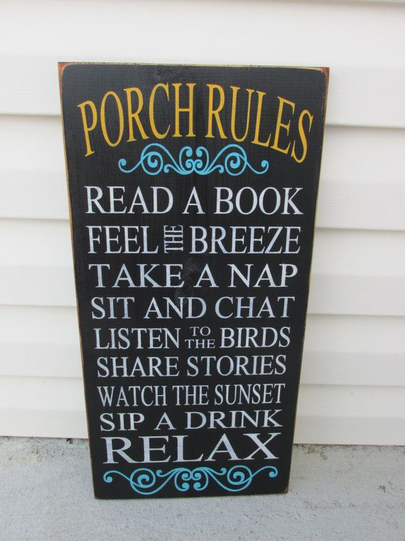 FATHERS DAY, SUMMER Spring,dad Gift Porch Rules Sign,Patio Rules,Deck