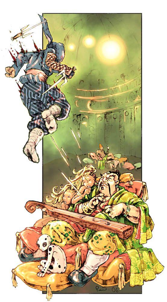 Dragon-Blooded: Ninja Attack by PaleLonginus.deviantart.com on @DeviantArt