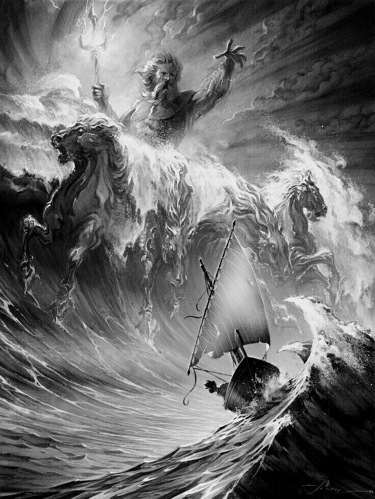 Poseidon Poseidon Tattoo Style Griechisches 4