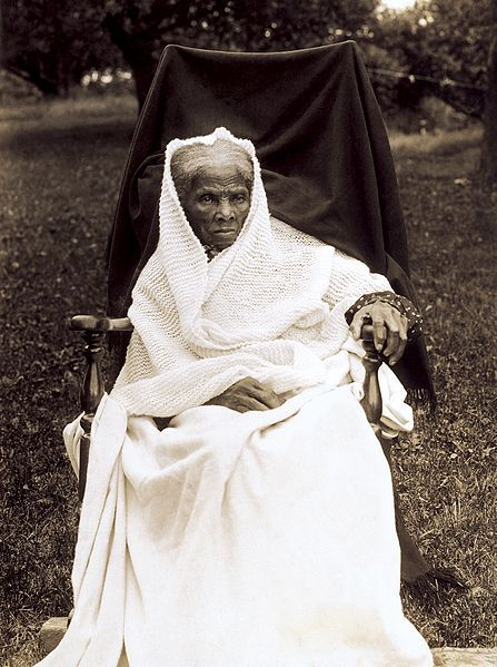 """Harriet Ross Tubman, 1911. In my opinion one the most interesting women in the world, past or present. Its difficult to summarize her bio in 500 characters. She was an adventurer, humanitarian, reformer, spy & hero. The links give an account of her life & accomplishments. I chose this image because it fits her other name, """"Moses"""".    http://www.math.buffalo.edu/~sww/0history/hwny-tubman.html, http://www.pbs.org/wgbh/aia/part4/4p1535.html, http://www.pbs.org/wgbh/aia/part4/4p1535.html."""