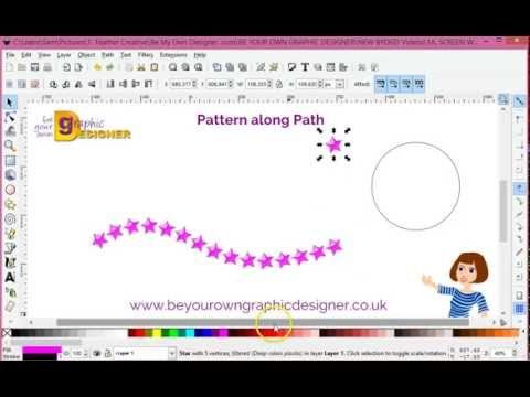 Inkscape Pattern Along A Path Tutorial Youtube With Images
