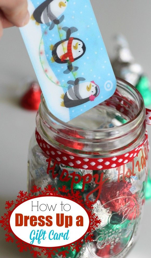 Cute gift card holder diy holidays gift and teacher for Cute mason jar christmas gift ideas