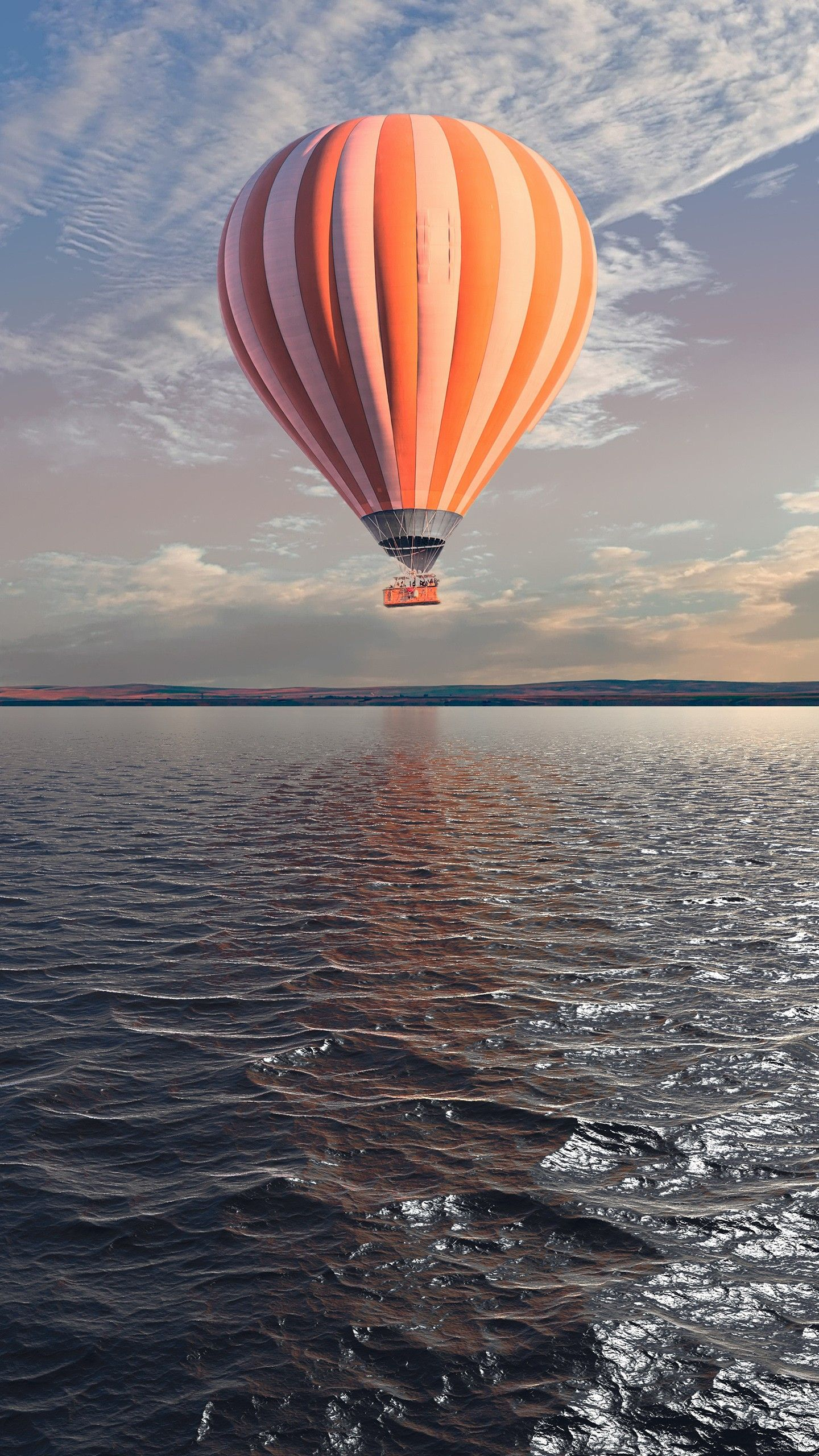 Misc Hot Air Balloon Over The Lake 5k Wallpapers Hd 4k