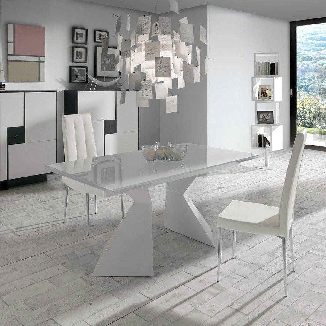 Mesa de comedor moderna hemnes glass home pinterest modern furniture Mesas modernas comedor