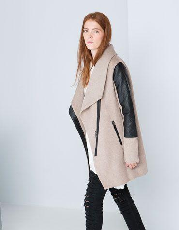 Manteau femme beige bershka