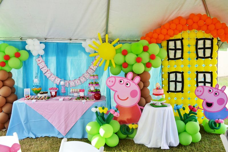 Decoracion Cumplea?os Peppa Pig ~ Peppa Pig es la preferida de los peques  decoraci?n con globos
