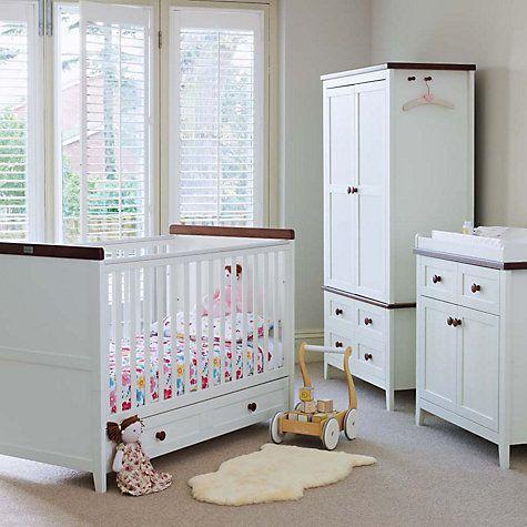 silver nursery furniture. Silver Cross Porterhouse Traditional White Nursery Furniture Set - Cru