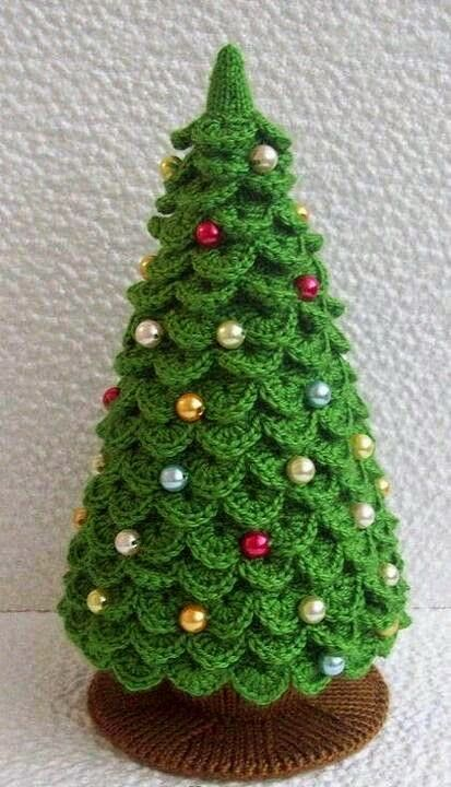 009 Knitting Branches Are Crochet Pattern Christmas Tree New