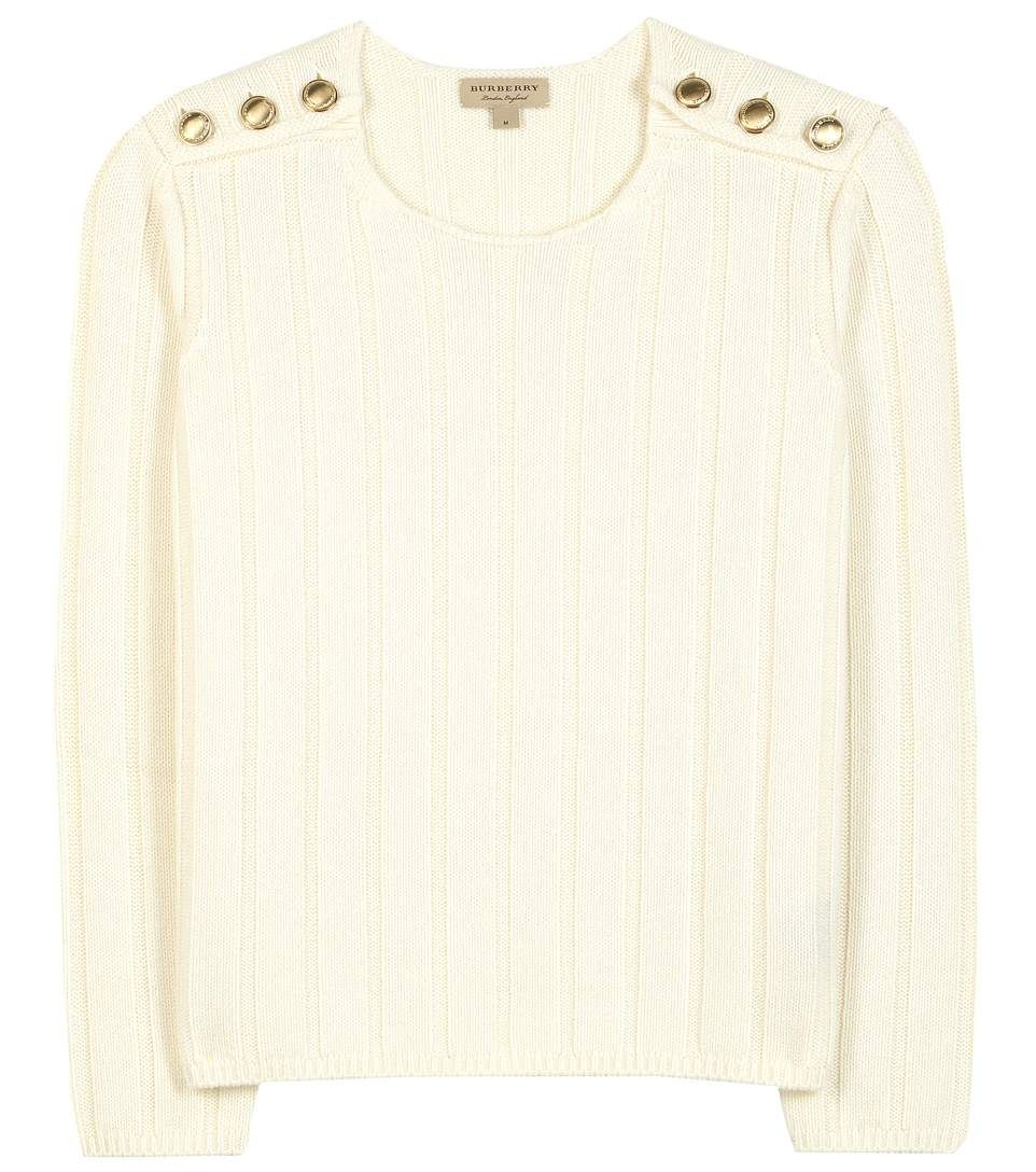 mytheresa.com - Knitted wool and cashmere-blend sweater - Luxury Fashion for Women / Designer clothing, shoes, bags