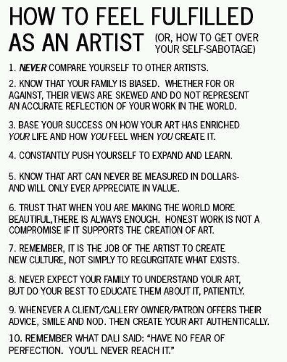 How To Feel Fulfilled As An Artist Words Of Wisdom The Tao Of Dana
