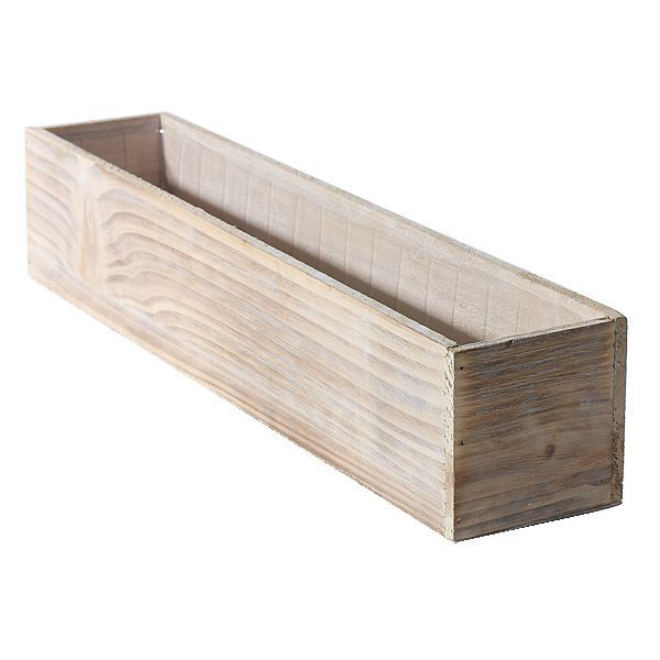 4 In X 4 In X 20 In Large White Wash Wood Planter Box W Hard Liner Wood Floral Containers Wood Planters Wood Planter Box Planter Boxes