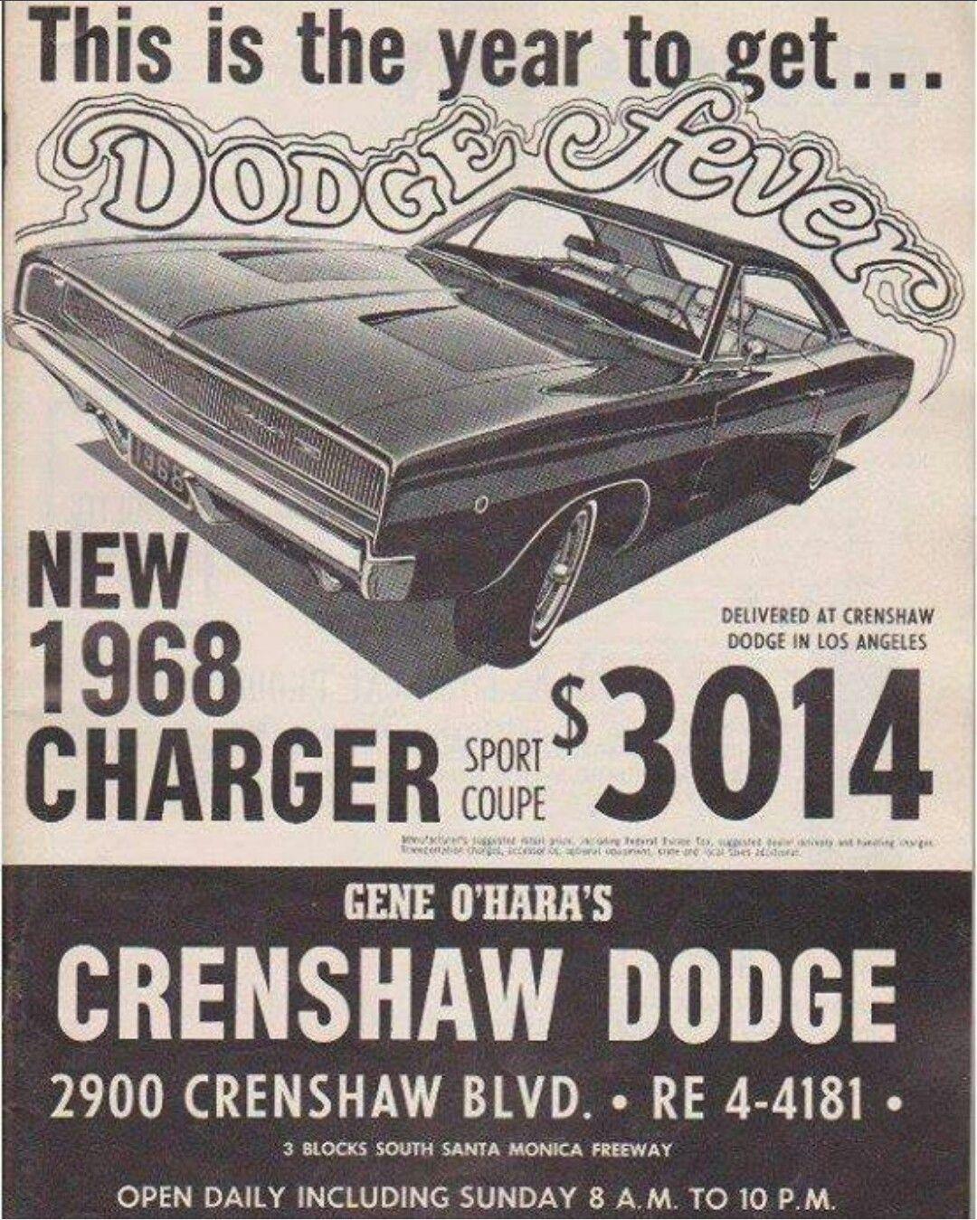 1968 Dodge Charger Ad Dodge Charger 1968 Dodge Charger Mopar