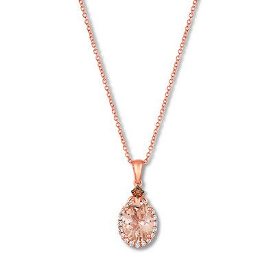 Vian morganite necklace 16 carat tw diamonds 14k gold le vian morganite necklace 16 carat tw diamonds 14k gold aloadofball Choice Image