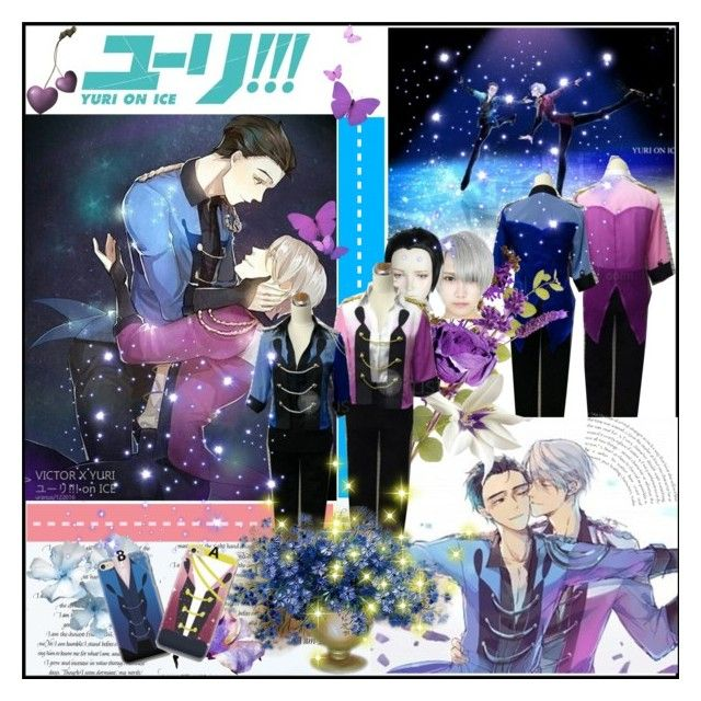 """""""Victor and Yuri Stay Close to Me - Yuri On Ice"""" by rukiak ❤ liked on Polyvore"""