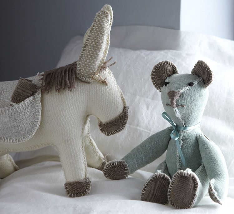 Cute toys from Mungo made from fabric off-cuts.