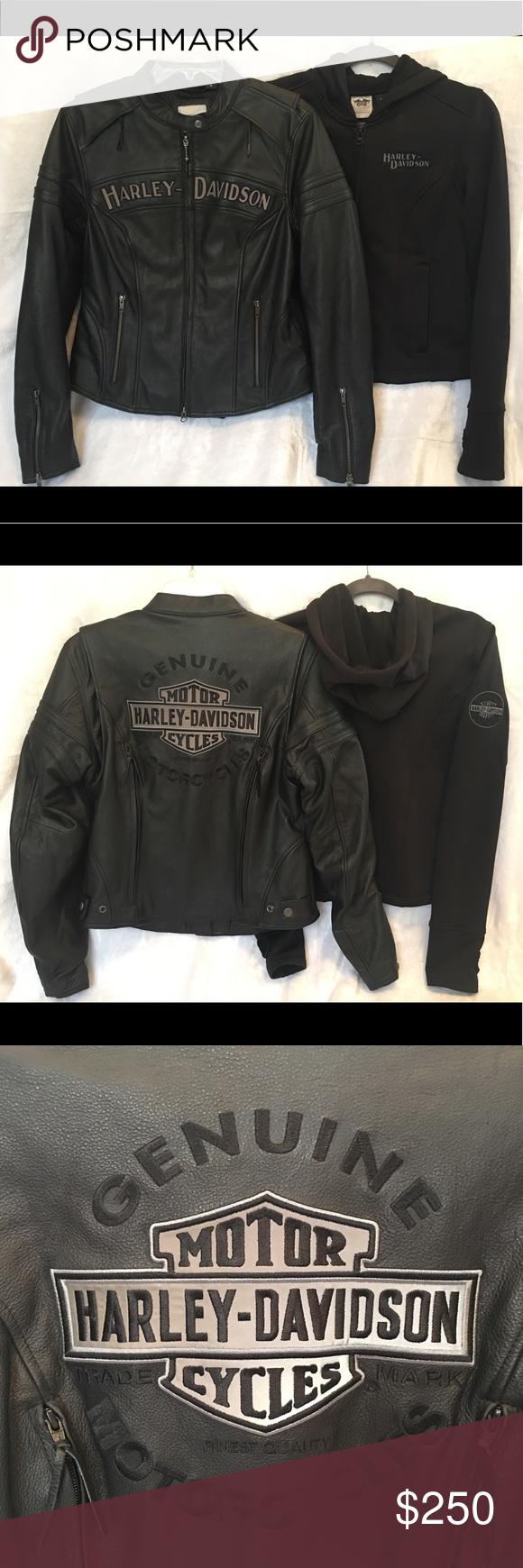 Harley Davidson Women S 3 In 1 Leather Jacket Leather Jackets Women Harley Davidson Women Leather Jacket [ 1740 x 580 Pixel ]