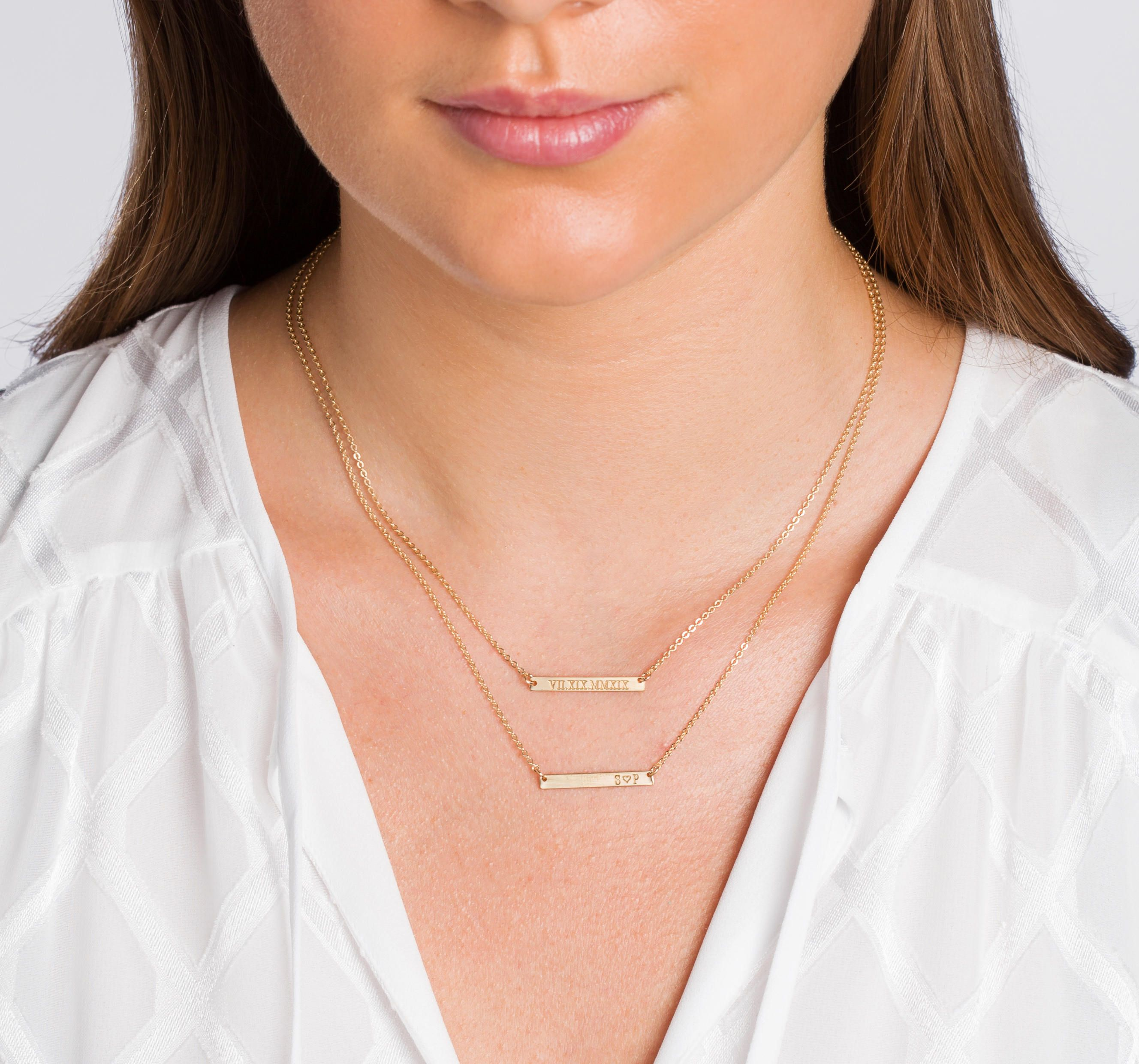 theory bar necklace yellow rainbow collection ef gold mini