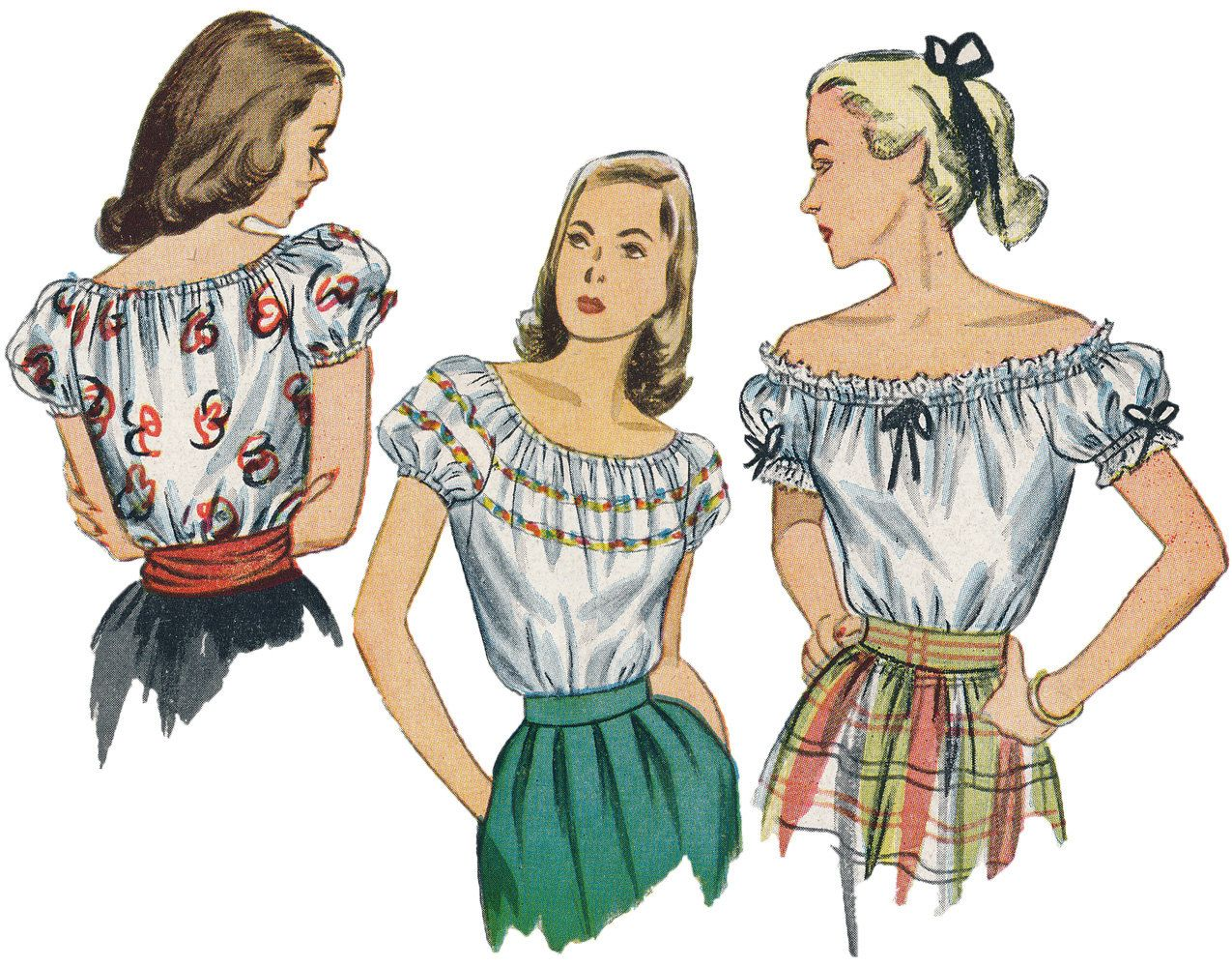 Vintage 1940s Peasant Blouse Sewing Pattern by by AtomicRedhead ...