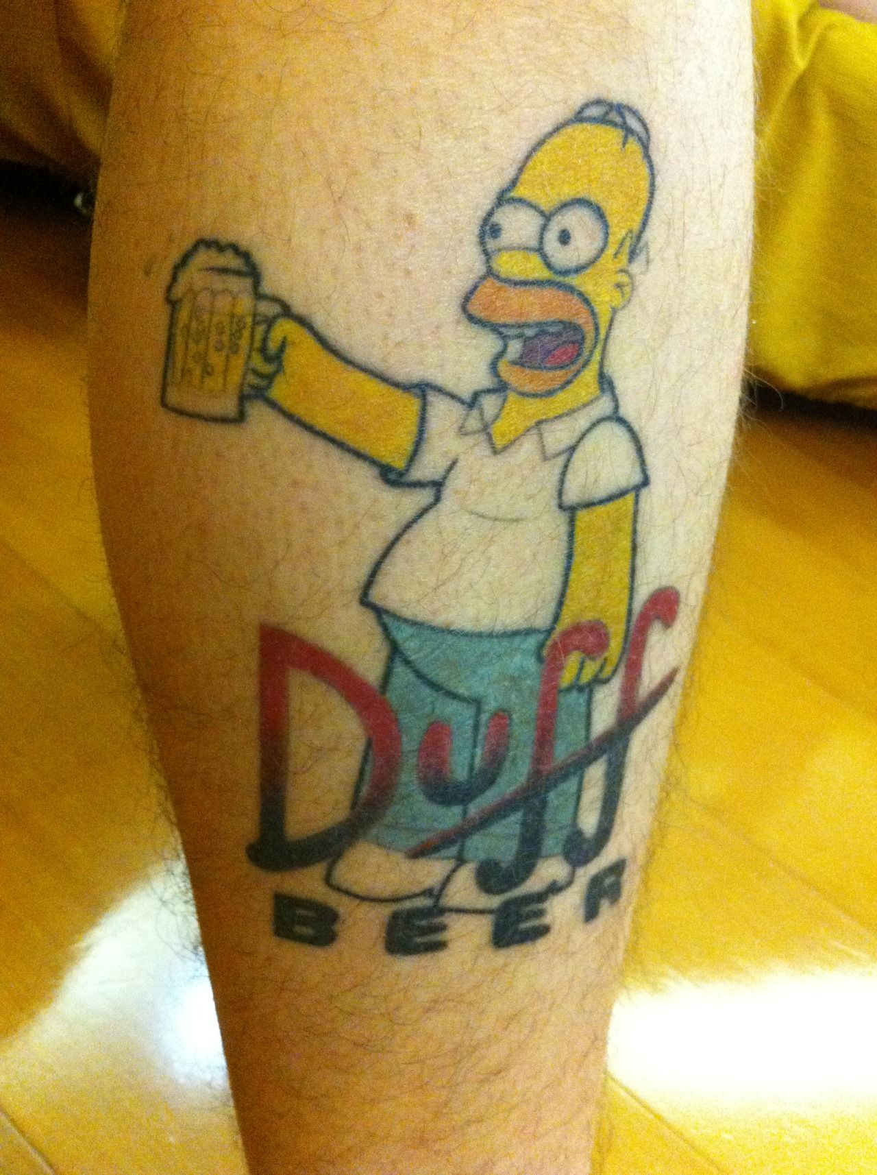 Duff beer homer tattoo simpsons pinterest cas to for Homer simpson tattoos