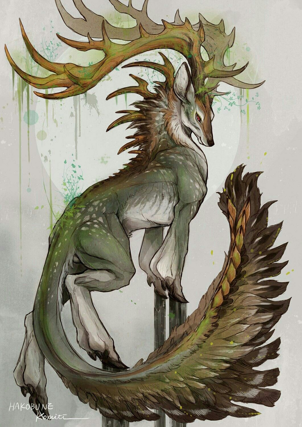 God Of Nature Characters Fantasy Tiere Fabelwesen