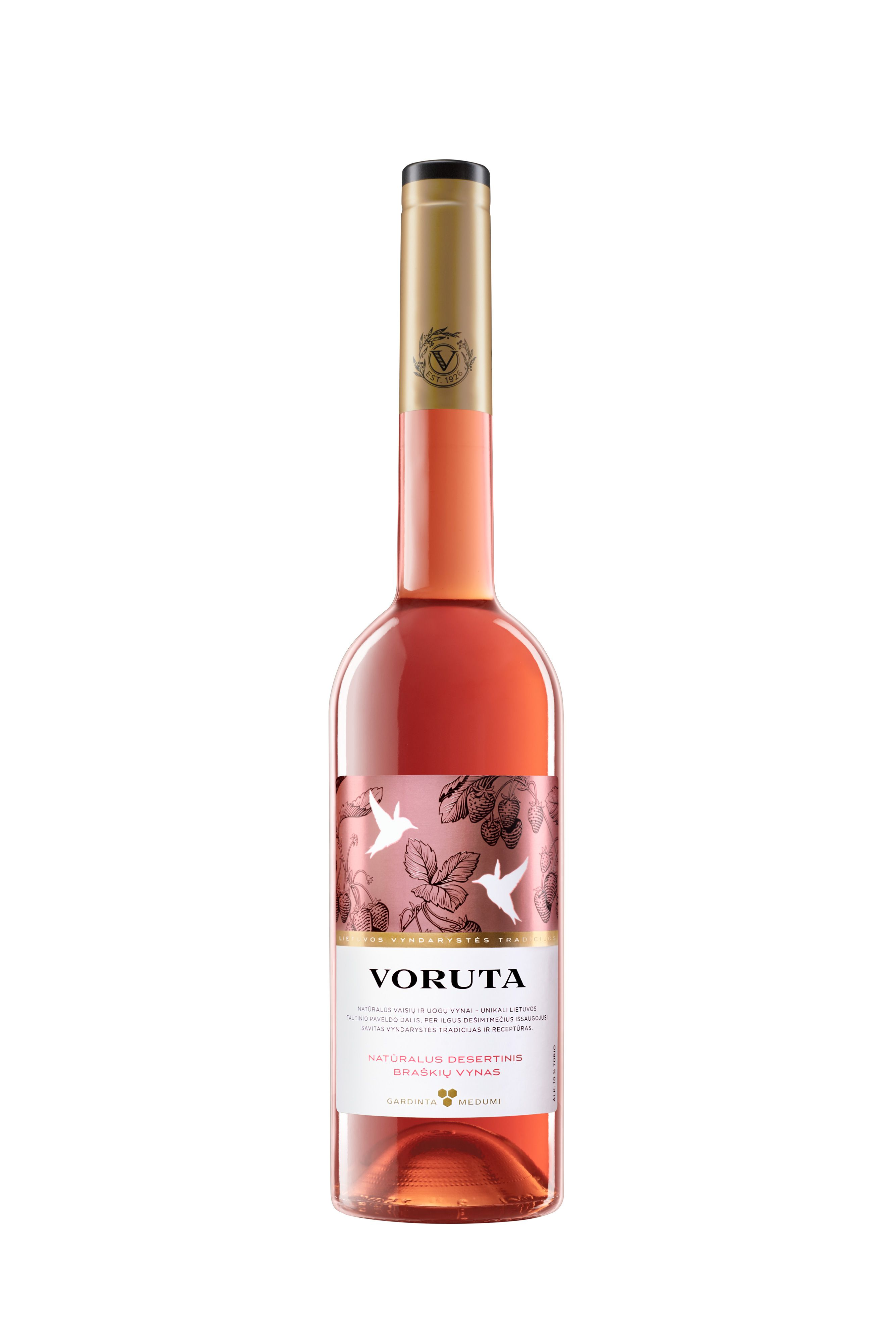 Voruta Dessert Wine Natural Strawberry Wine Product Of Lithuania Strawberry Wine Wine Packaging Wine Desserts