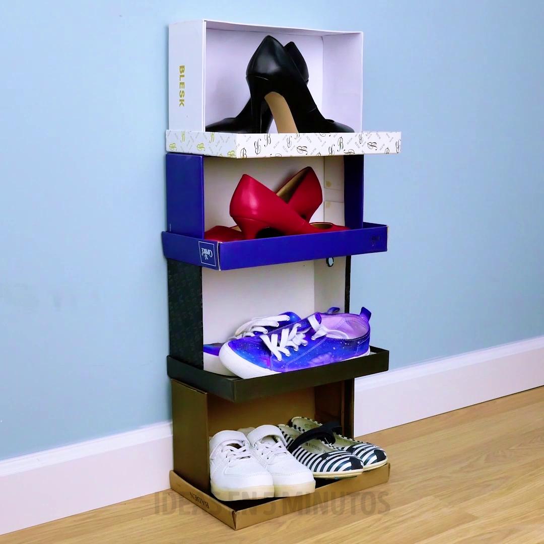No Tires Tus Cajas Viejas Video Cajas Viejas Reciclar Cajas De Zapatos Manualidades Caseras