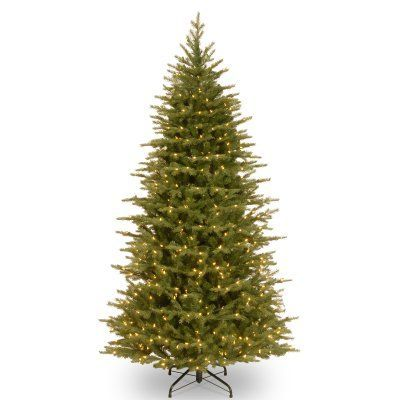 7.5 ft. Feel Real Nordic Spruce Slim Hinged Dual LED Christmas Tree with Plastic Caps - PENS4-337D-75, Durable