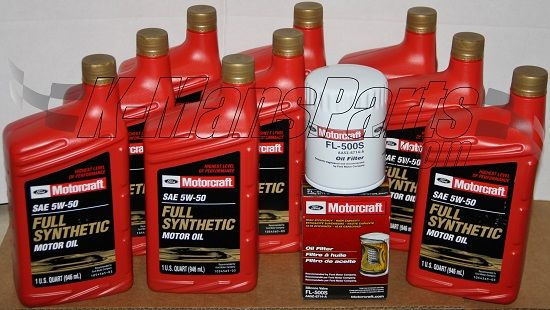 Nine 9 quarts 5w 50 motorcraft full synthetic motor oil xo for How often to change full synthetic motor oil