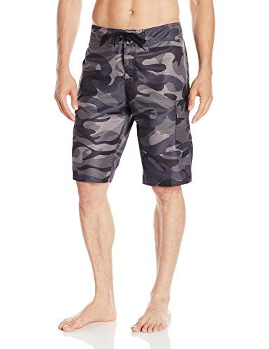 Quiksilver Mens Manic 22 Inch Length Cargo Pocket Boardshort Swim Trunk