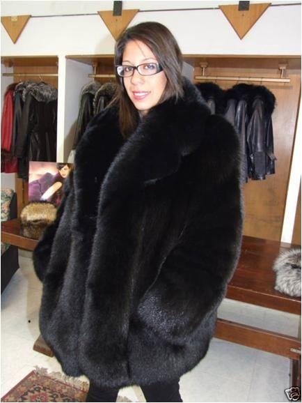 eccb20384 Image result for black fox fur coat | Fur | Fox fur coat, Fox fur ...